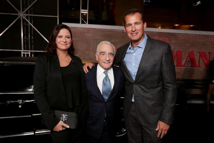 Emma Tillinger Koskoff, Producer, Martin Scorsese, Director/Producer, Scott Stuber, Head of Original Films, Netflix,